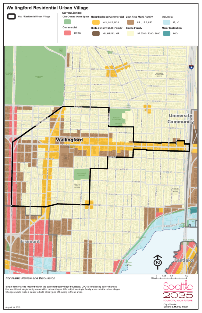 Map of Wallingford Residential Urban Village