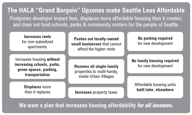 HALA Grand Bargain - making Seattle less Livable