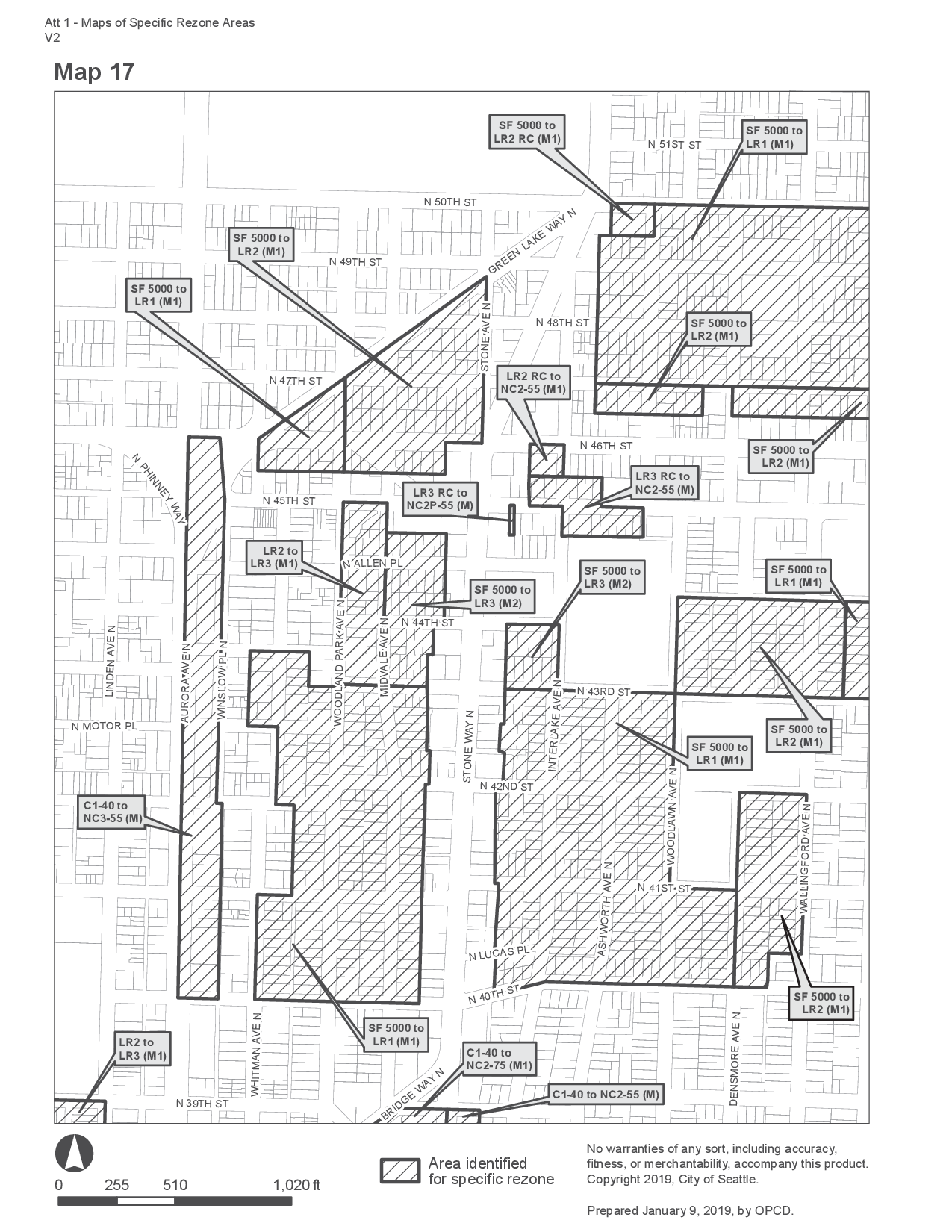 MHA Zoning Changes for Wallingford Urban Village, Map 17