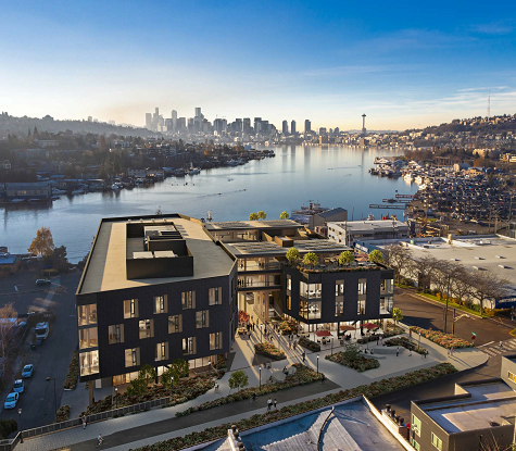 View of project looking towards Lake Union.